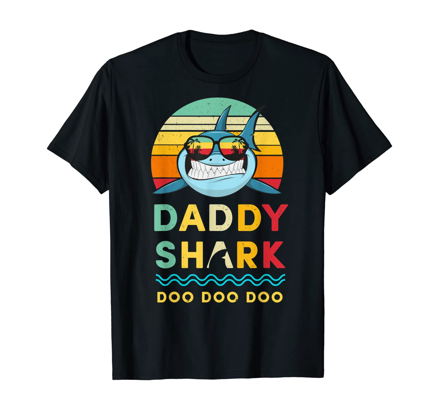 Daddy Shark Shirt Doo Doo Doo Fathers Day Gift T-Shirt