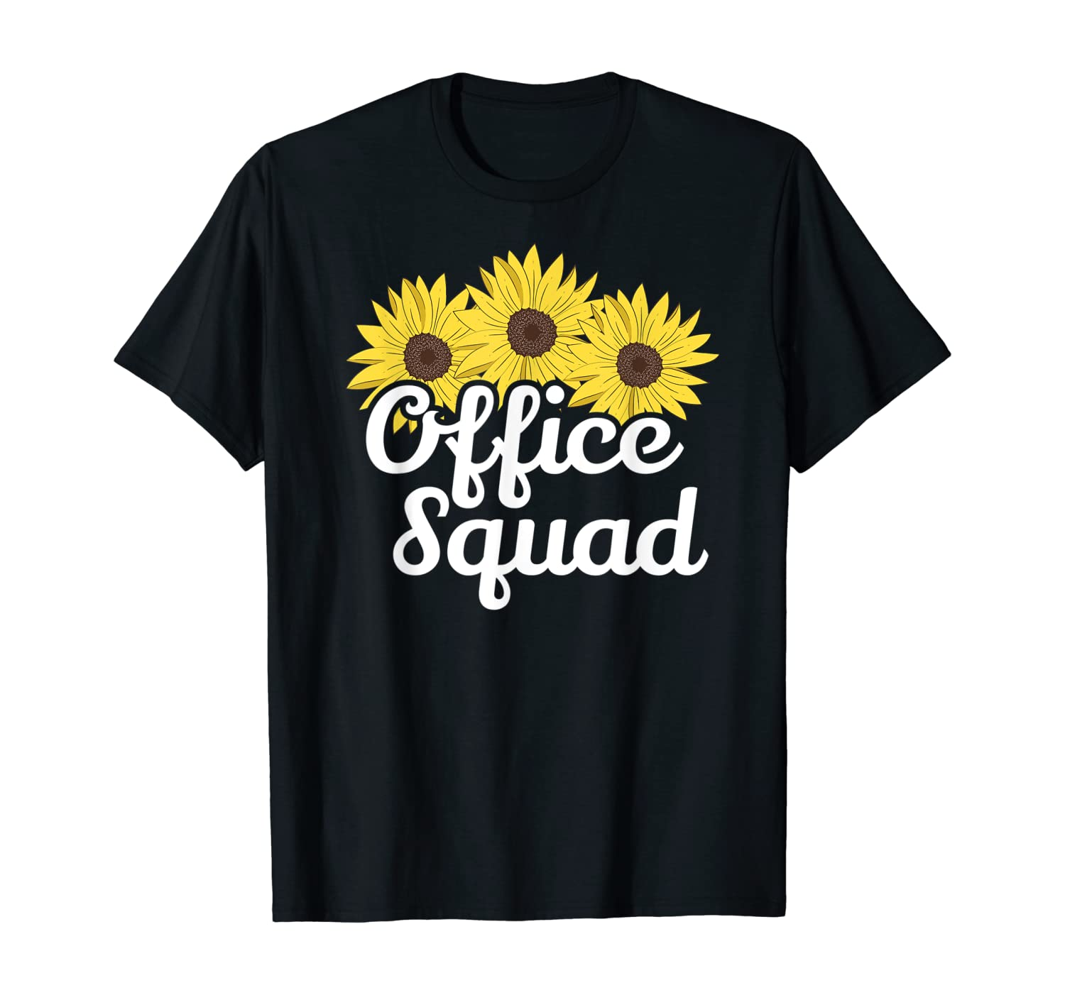 Cute Office Squad Secretary Sunflower Admin Appreciation T-Shirt