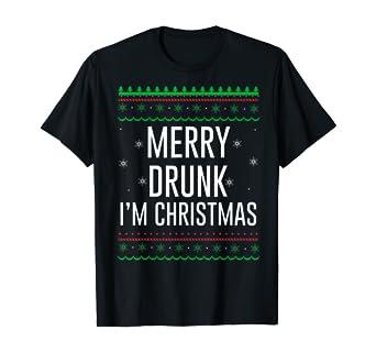 I say no to Alcohol T-Shirt Funny Mens womens Xmas Christmas Gift Present