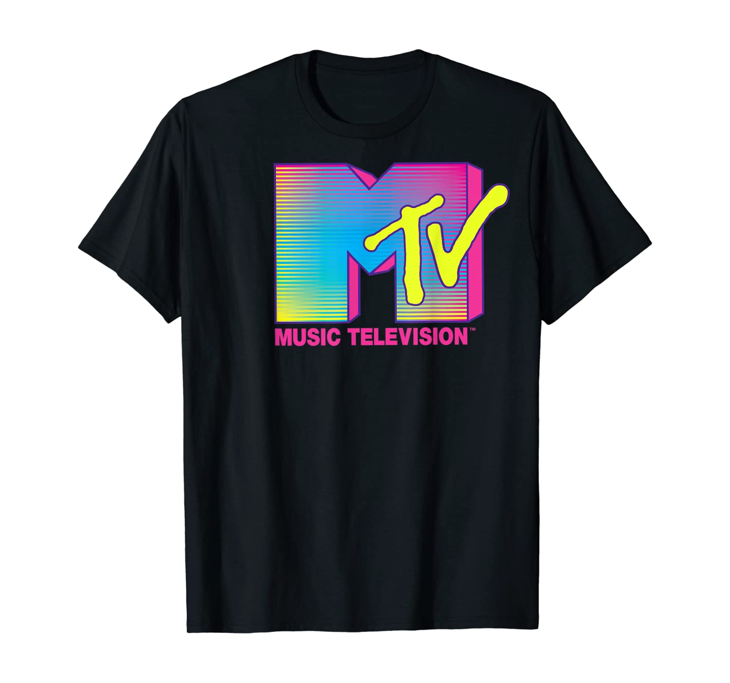 80s Men's Clothing | Shirts, Jeans, Jackets for Guys MTV Logo Fluorescent Colors Graphic T-Shirt $19.99 AT vintagedancer.com