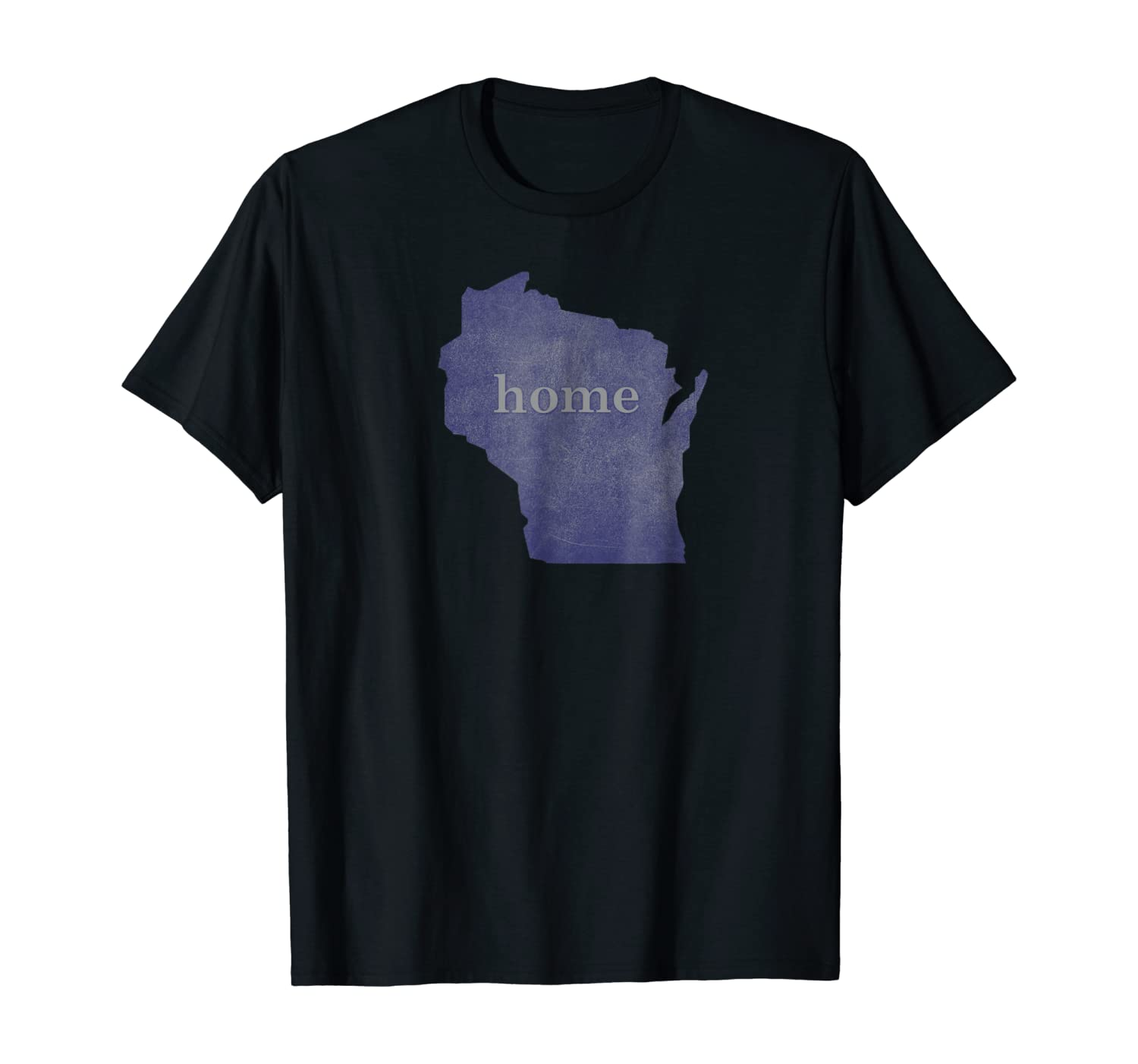 Wisconsin Wi Distressed Home State T Shirt