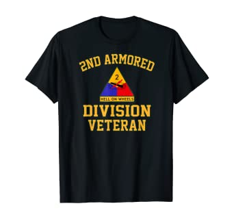 2ND ARMORED DIVISION /& WORLD WAR II CAMPAIGNS VETERAN  2-SIDED SHIRT
