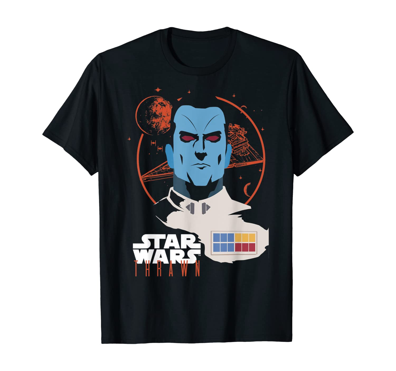 Star Wars Admiral Thrawn Head Shot Graphic T-Shirt