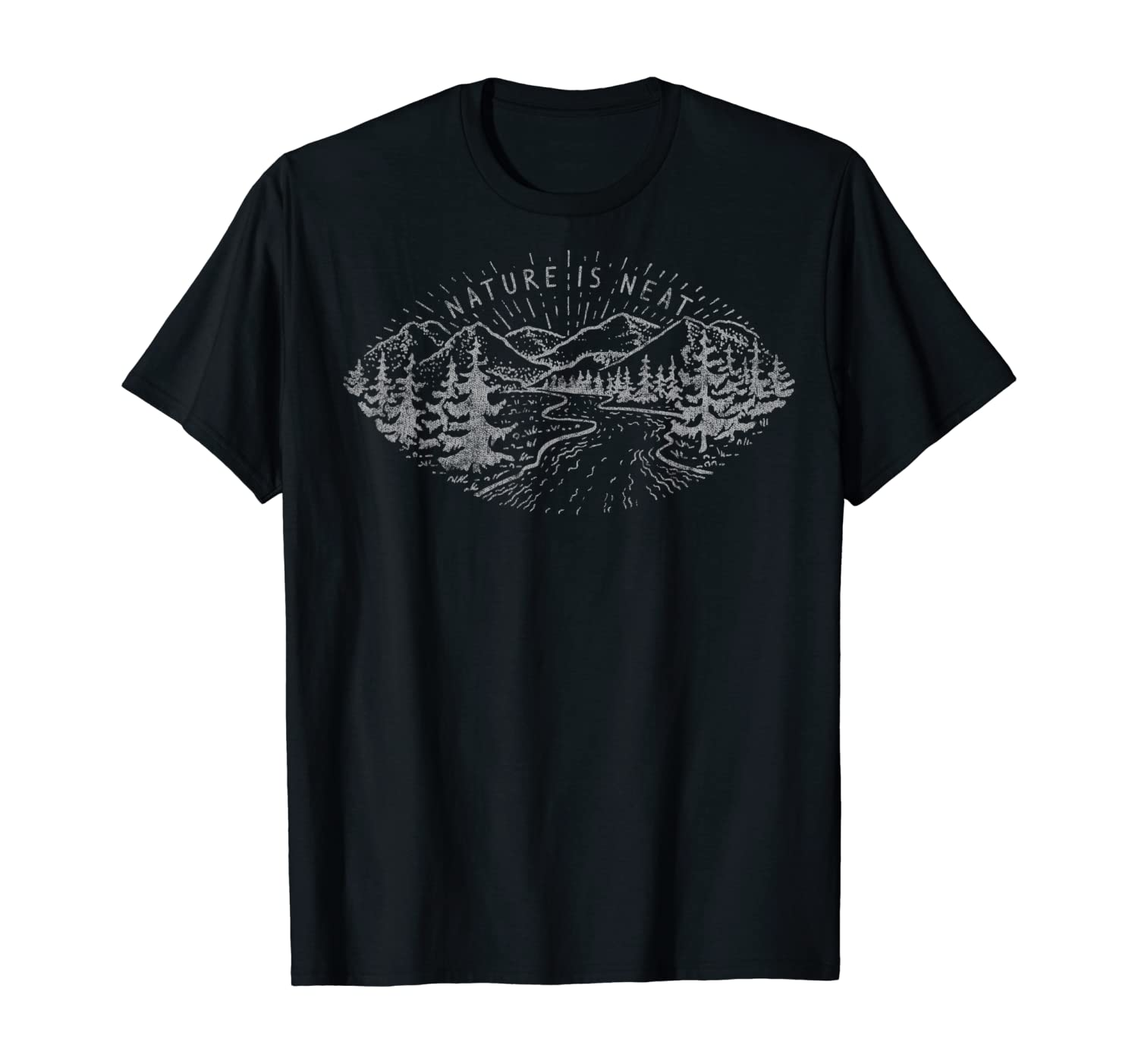 Nature Is Neat Line Art T-Shirt