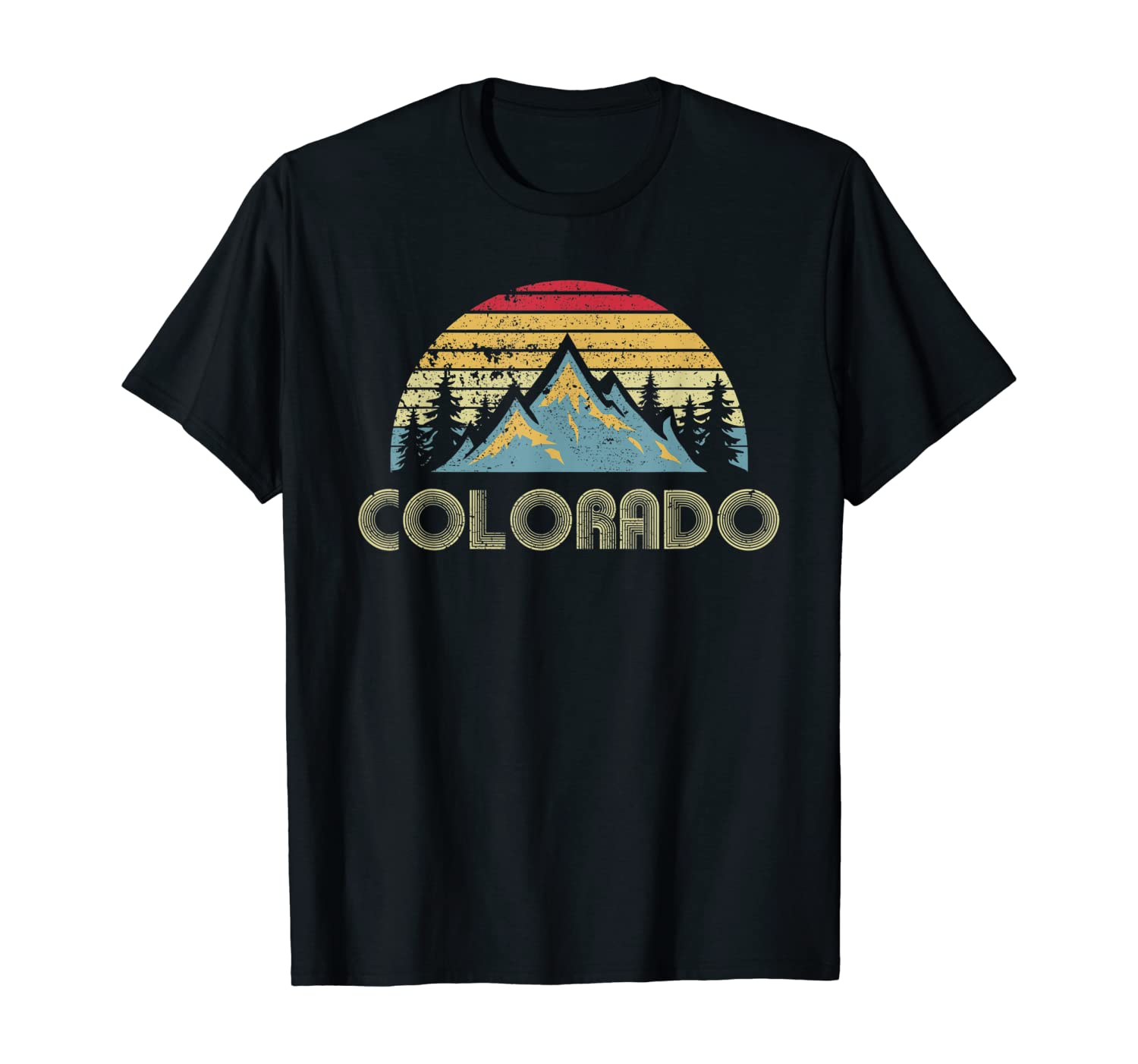 Colorado Tee - Retro Vintage Mountains Nature Hiking T Shirt