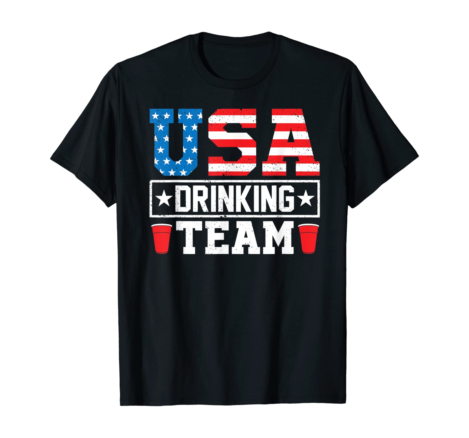 USA Drinking Team Funny Drinking Beer Lover Gift T-Shirt T-Shirt