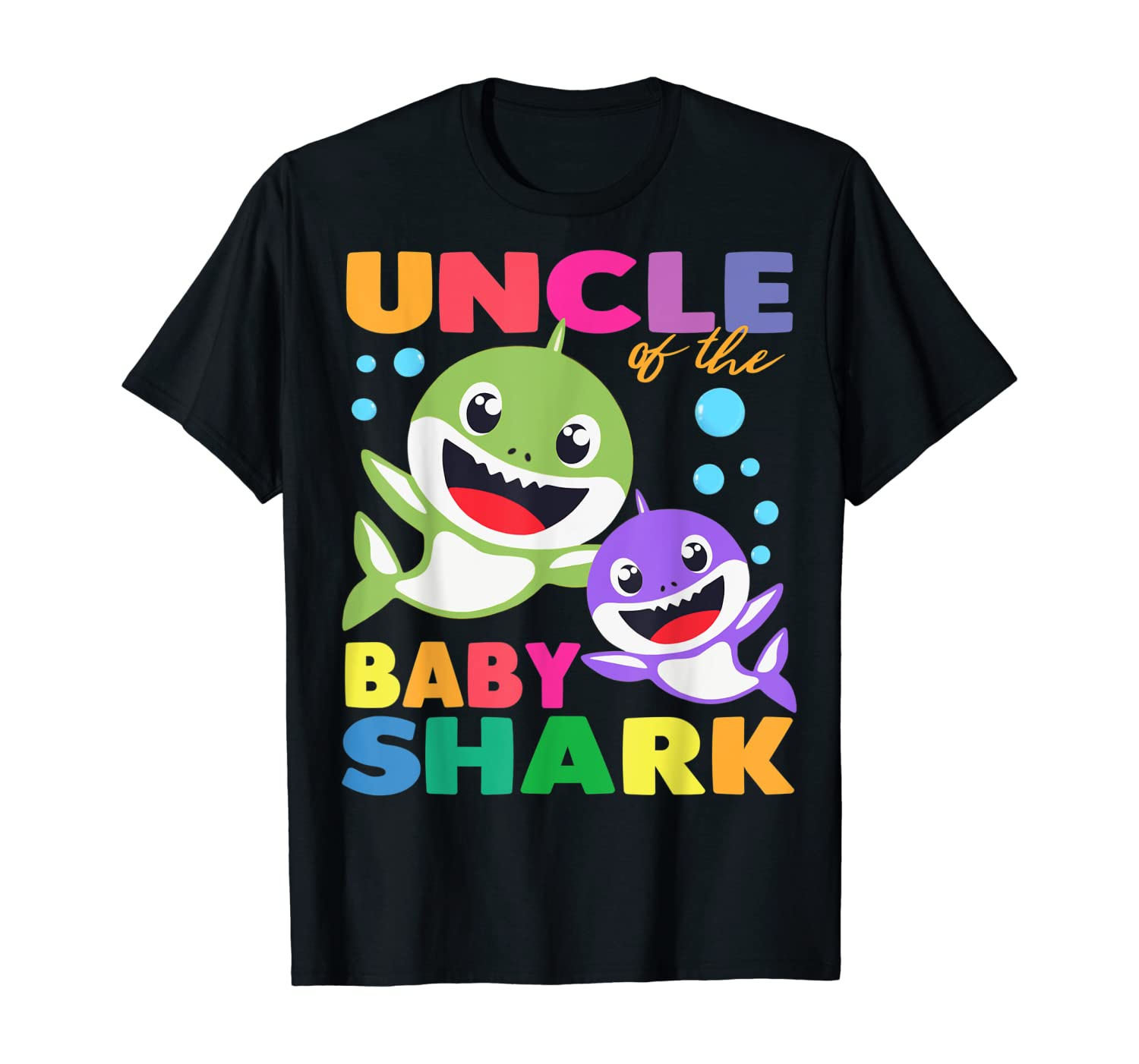 Uncle Of The Baby Shark Birthday Uncle Shark Shirt T-Shirt