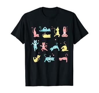 Amazon Com Cat Yoga Pose Kitty Humor Funny Cat Yogi Workout Themed T Shirt Clothing