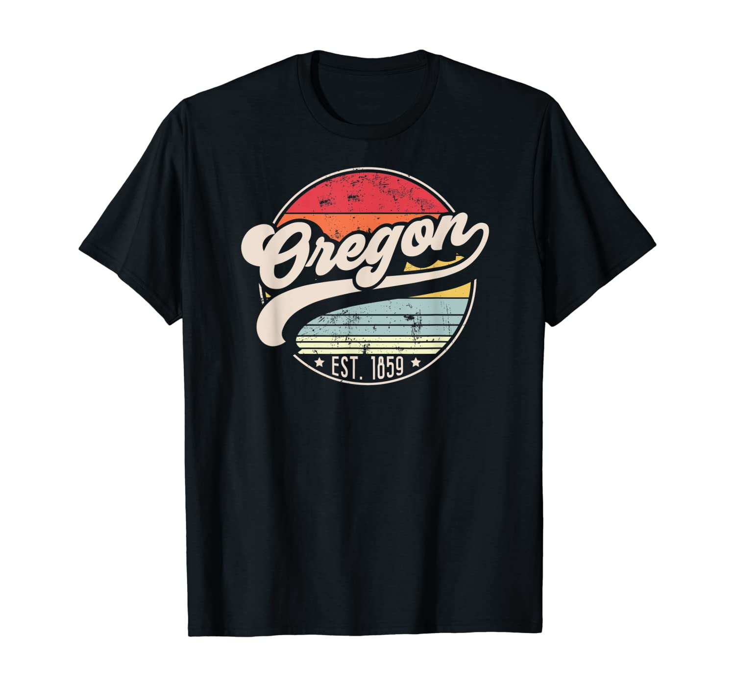 Retro Oregon Home State OR Cool 70s Style Sunset Gift T-Shirt