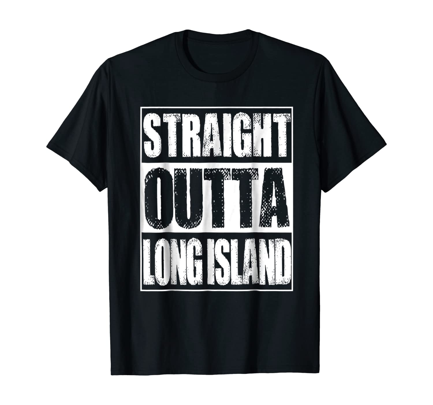 Vintage Straight Outta Long Island New York Gift T-Shirt