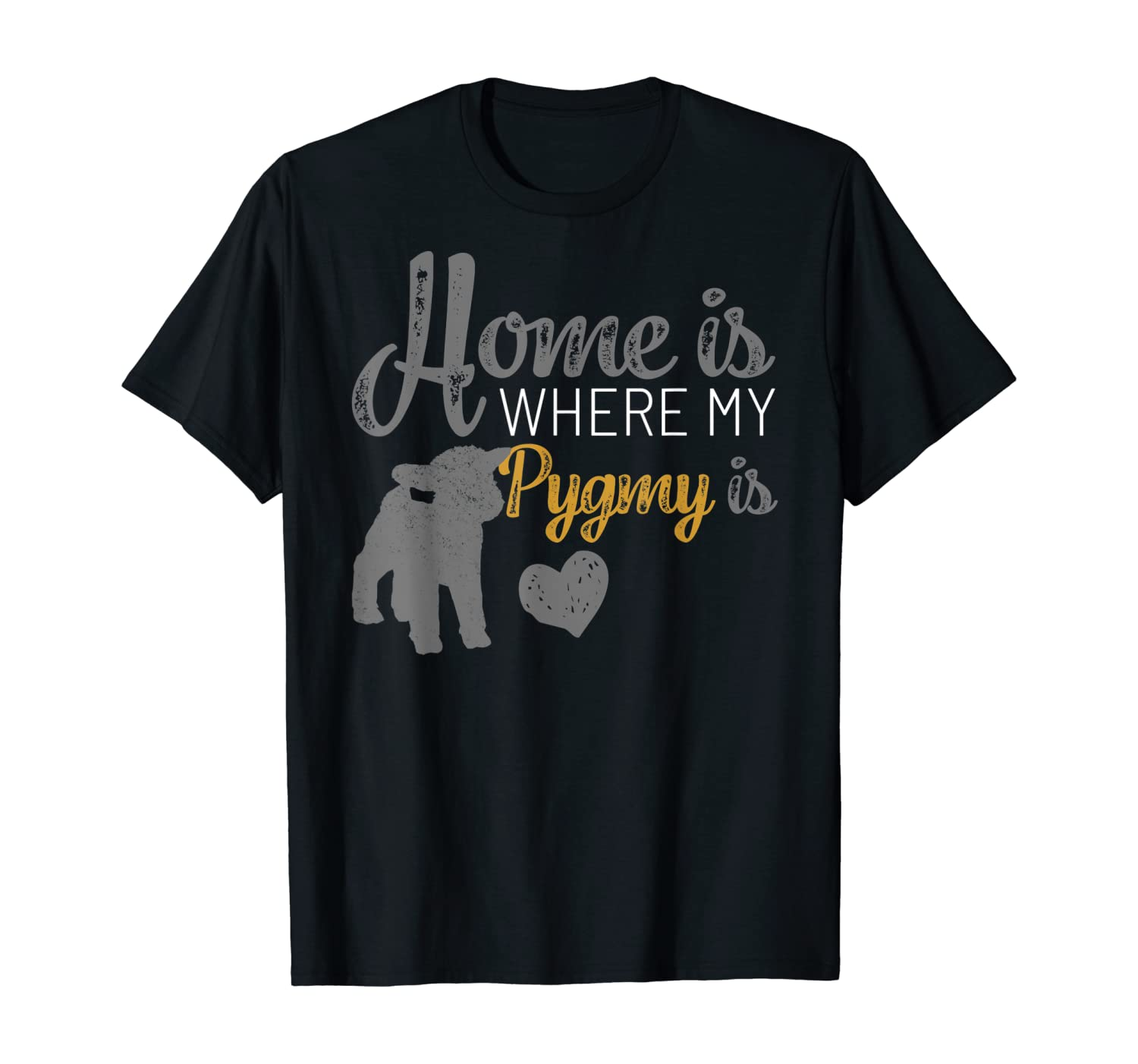 Home Is Where My Pygmy Goat is Tshirt Pygmy Goat Lovers Gift T-Shirt