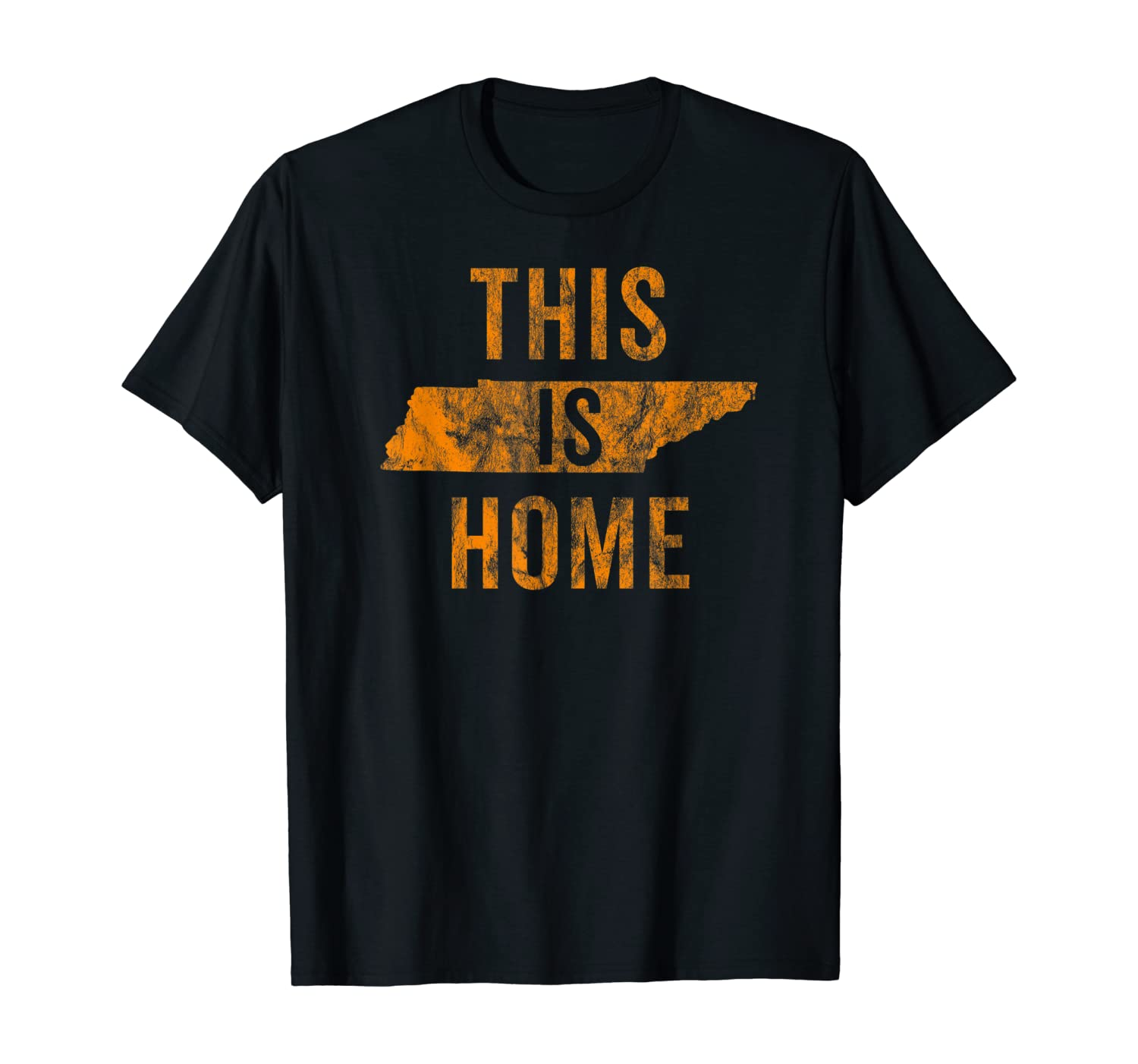 This Is Home Tennessee State Orange Proud Fan Gift Vintage T-Shirt