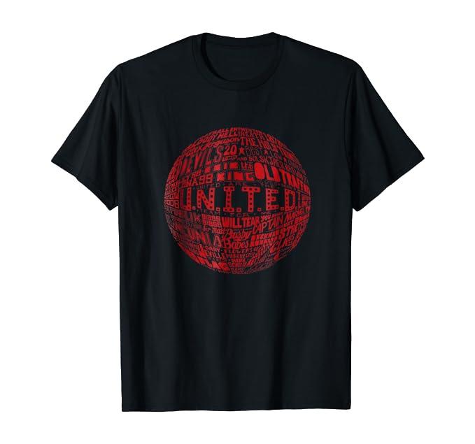 White Typography Print t-shirt Manchester United