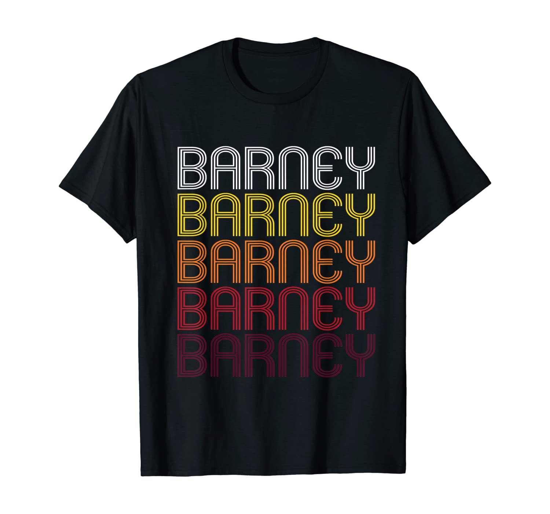 Barney Retro Wordmark Pattern Vintage Style Shirts