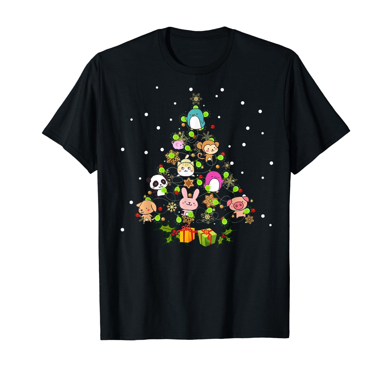 Kawaii Anime Christmas Tree Decor Winter Japanese Ornament T-Shirt