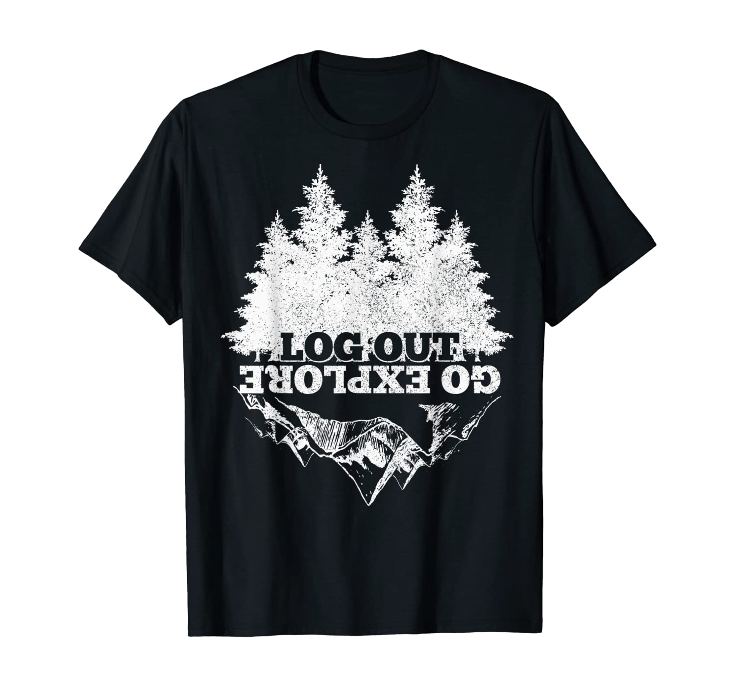 Go Explore Hiking Mountains Nature Camping Camper Hiker Gift T-Shirt
