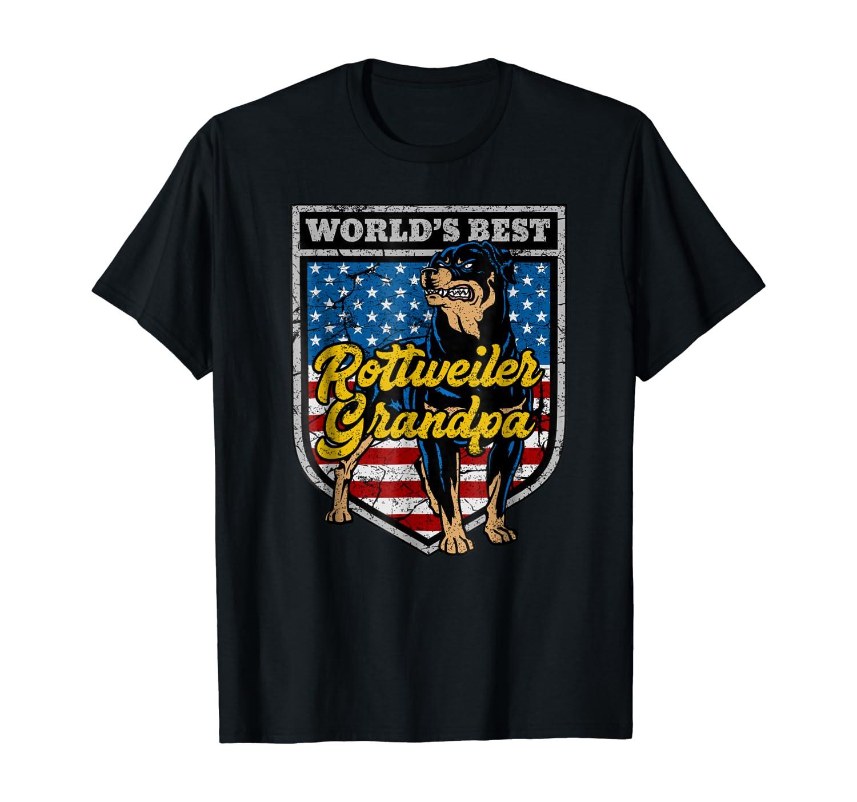 Mens Worlds Best Rottweiler Grandpa Tshirt