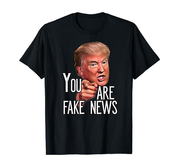 Herren Herren Funny Präsident Trump Sie sind Fake News Meme T-shirt