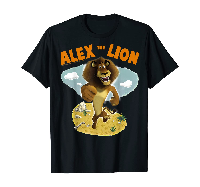 Madagascar Alex The Lion Desert Text Poster Shirts