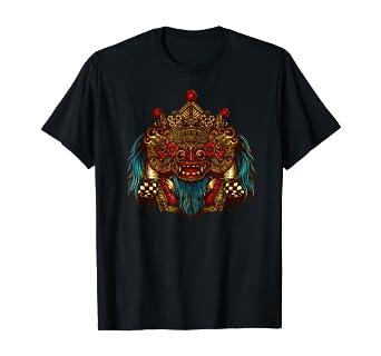 amazon com indonesian barong shirt bali mask shirt bali luck shirt clothing indonesian barong shirt bali mask shirt bali luck shirt