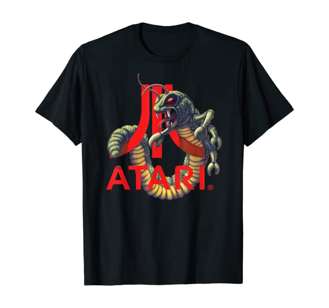Officially Licensed Centipede wrapped around Atari Logo T-shirt