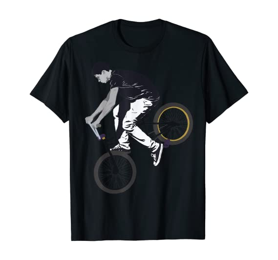 Cool Wheelie Cyclist T-Shirt