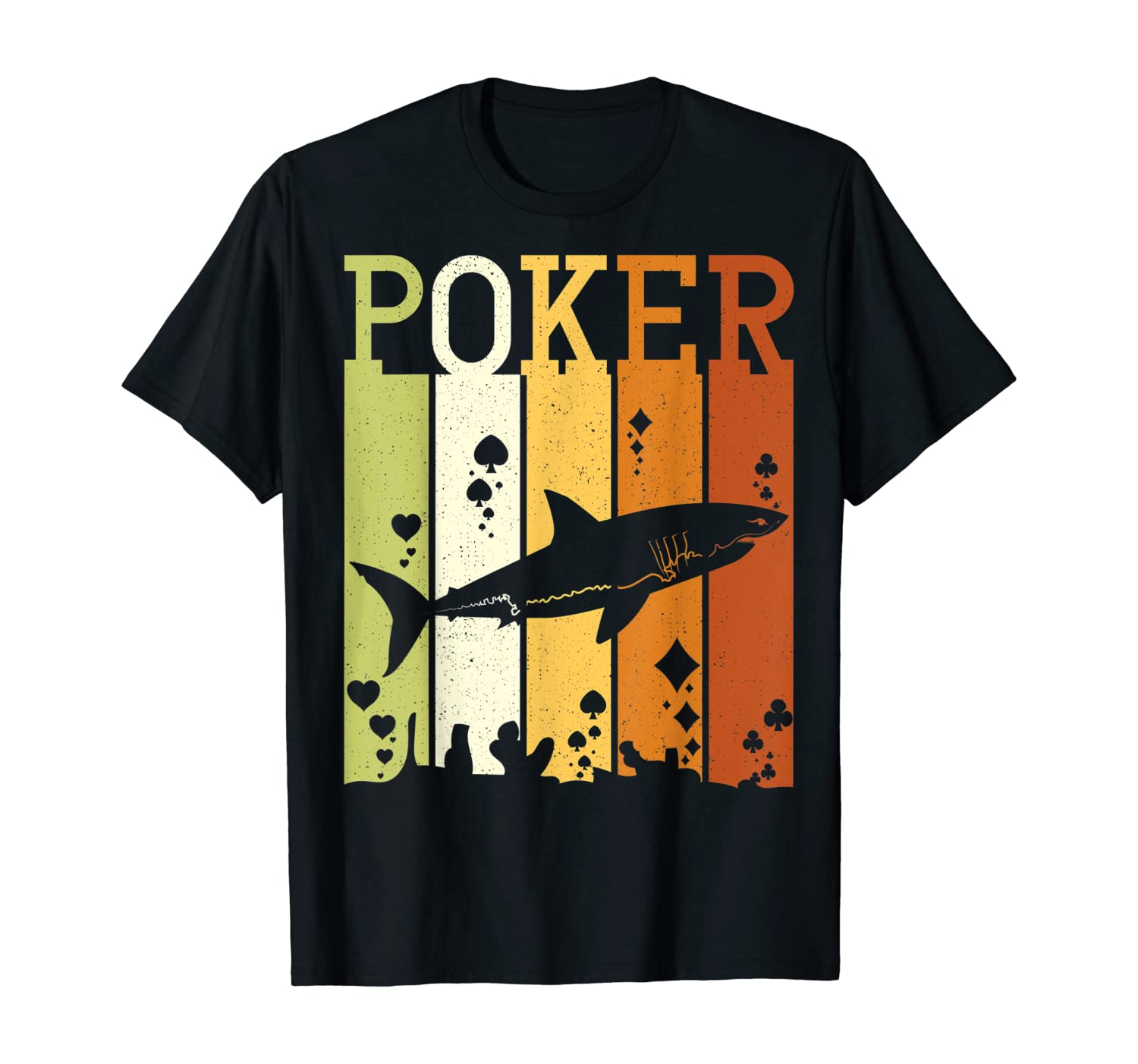 Funny Poker Shark Shirt for Card Player & Casino Lover T-Shirt