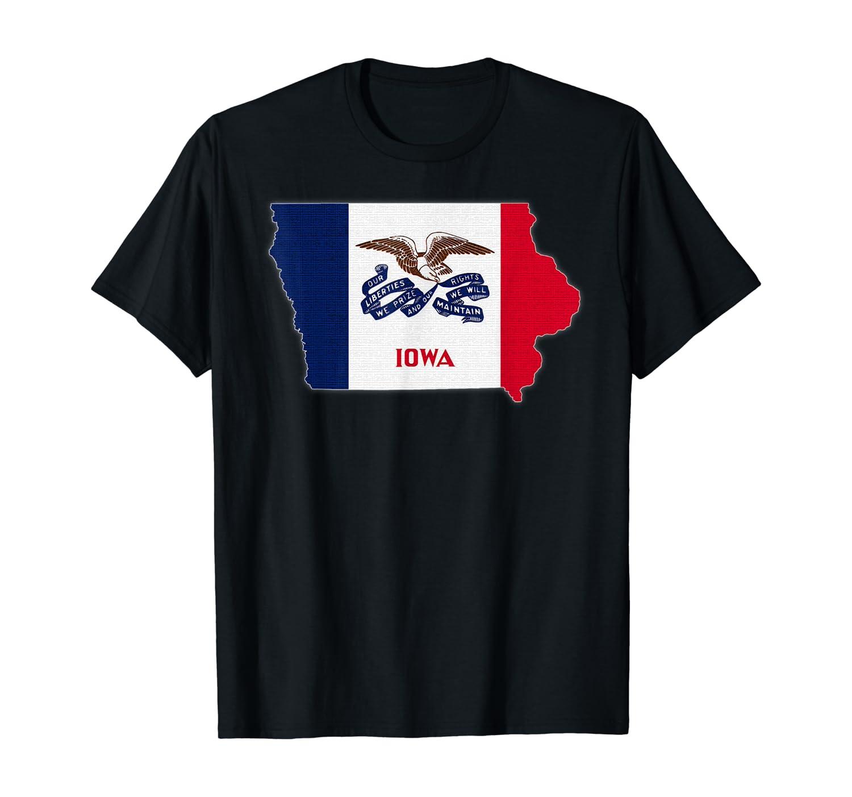 IOWA STATE MAP IOWA IA Flag Roots Men Women Gift T-Shirt