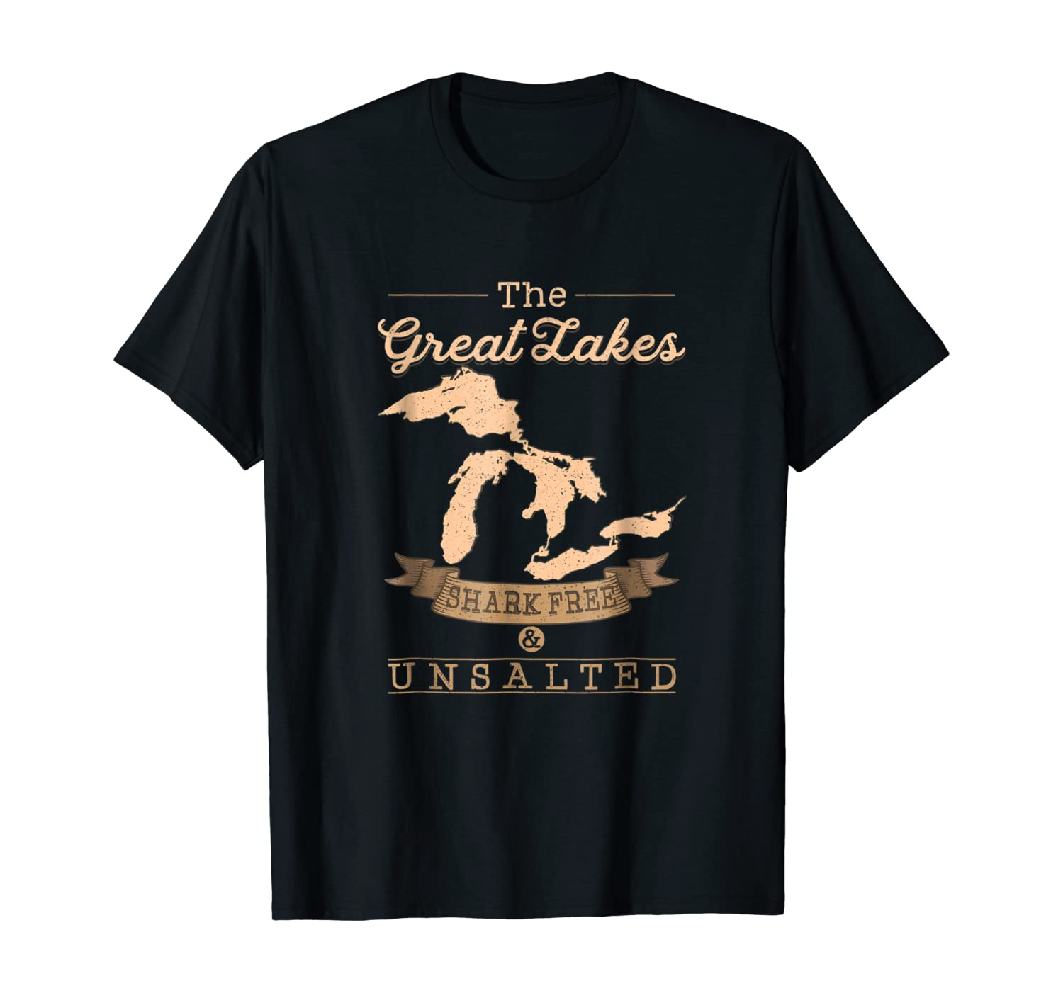 The Great Lakes Shark Free Unsalted T-Shirt Michigan Gift
