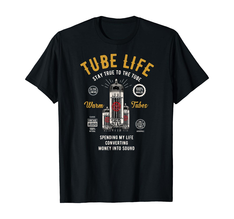 Vintage Retro Analog-Audio Vacuum Tube Guitar Bass Tube Amp T-Shirt