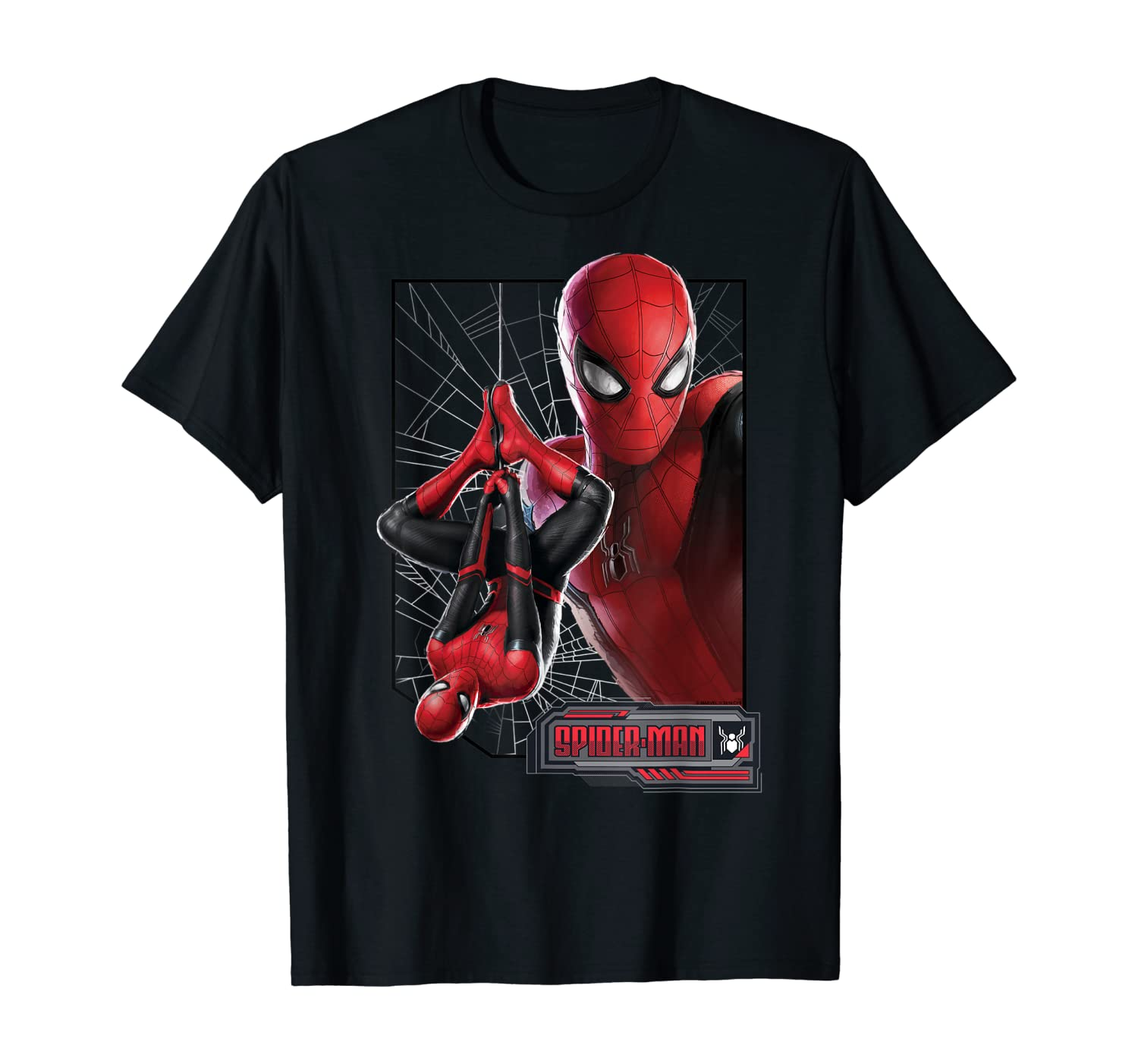 Marvel Spider-Man Far From Home New Suit Logo Poster T-Shirt