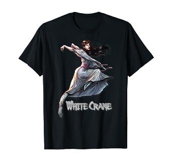Amazon Com White Crane Comic Kung Fu Girl Tshirt Cute Martial Arts Gift Clothing