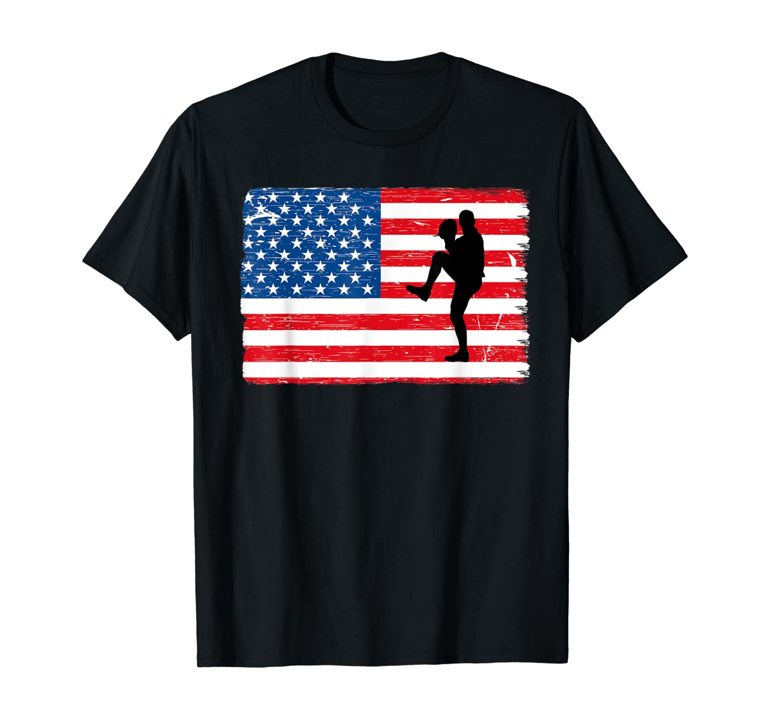 Baseball American Flag Great For Fourth Of July Shirts
