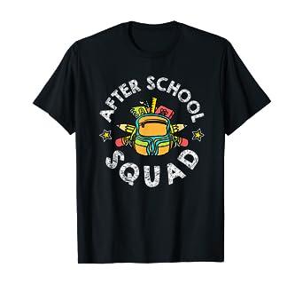Amazon Com After School Squad After School Program Staff T Shirt Clothing