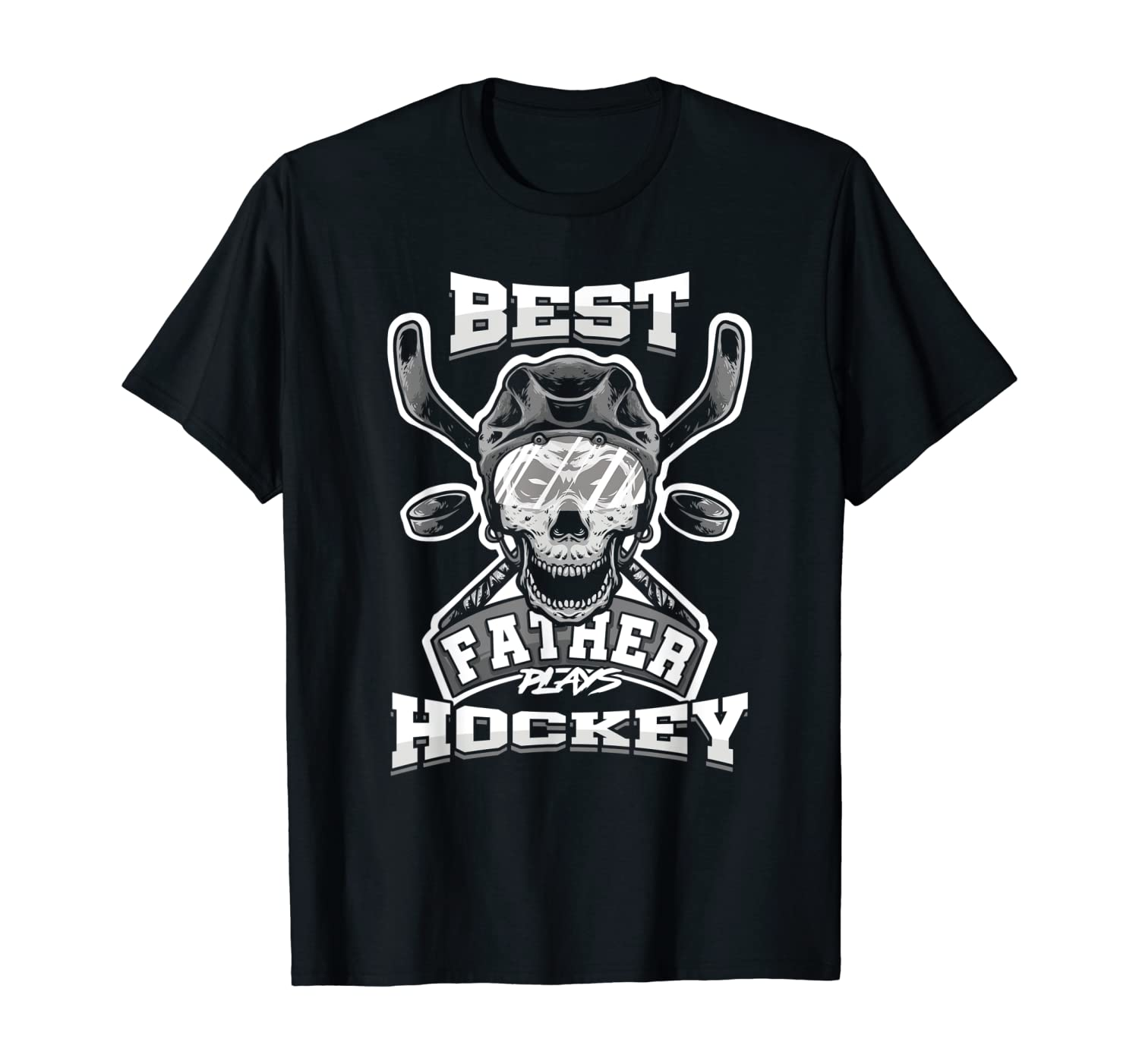 Dad Coach Best Father Plays Hockey Fathers Day Skull Gift Shirts