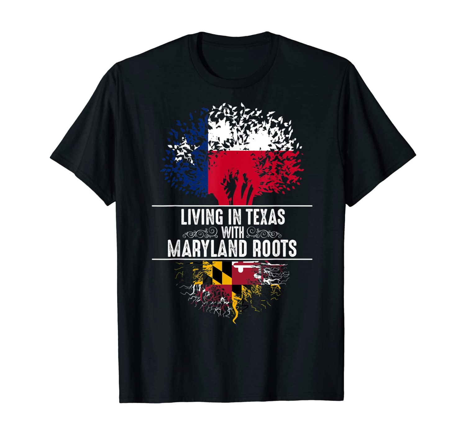 Texas Home Maryland Roots State Tree Flag Shirt Love Gift