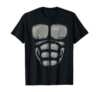 Amazon.com: Gorilla Pecho los músculos Camisa – Disfraz para ...
