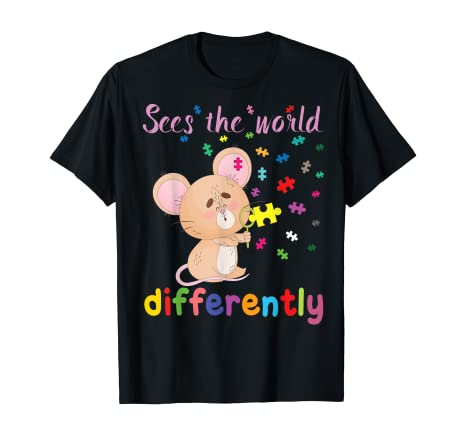 Sees the World Differently – Autism Awareness T-Shirt