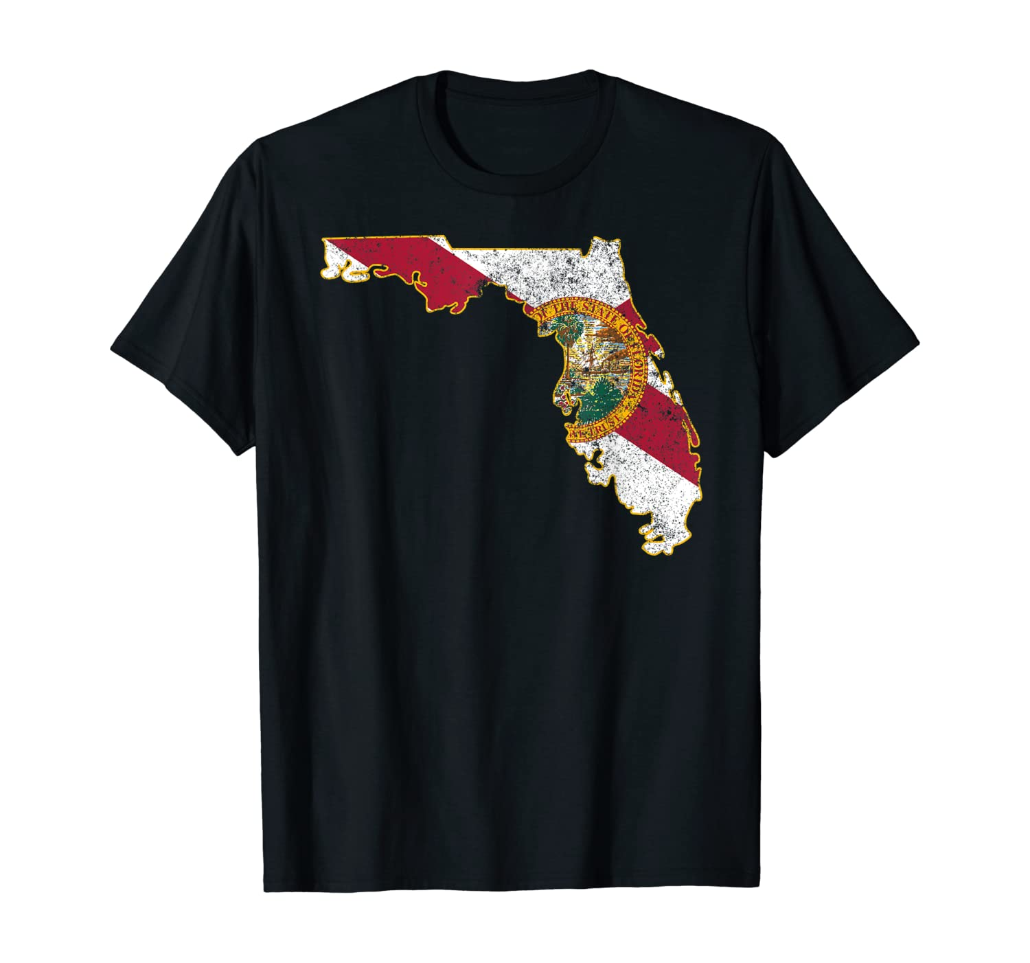 Florida Shirt: State T-Shirt With Florida Shape Flag