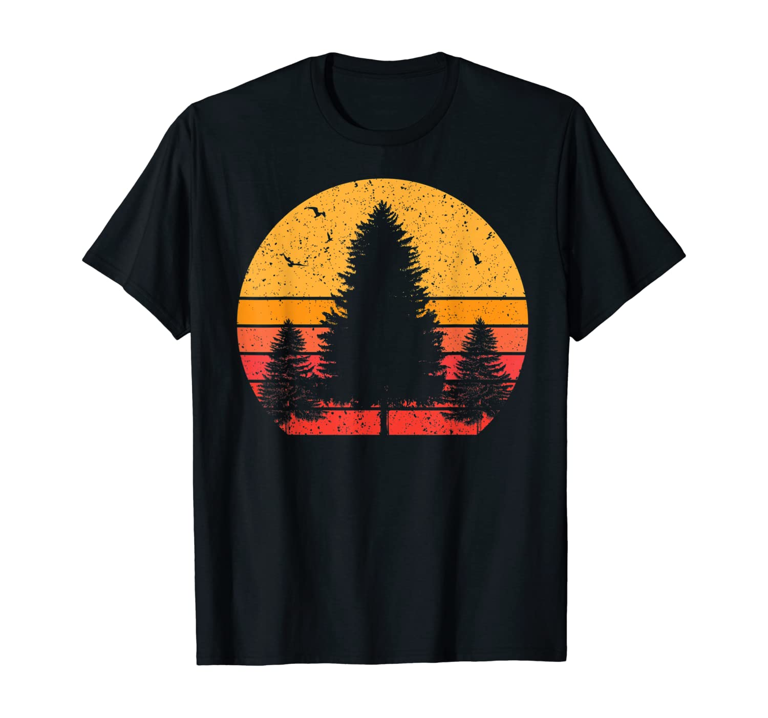 Sunset Tree Peaceful Forest Nature Lover T-Shirt