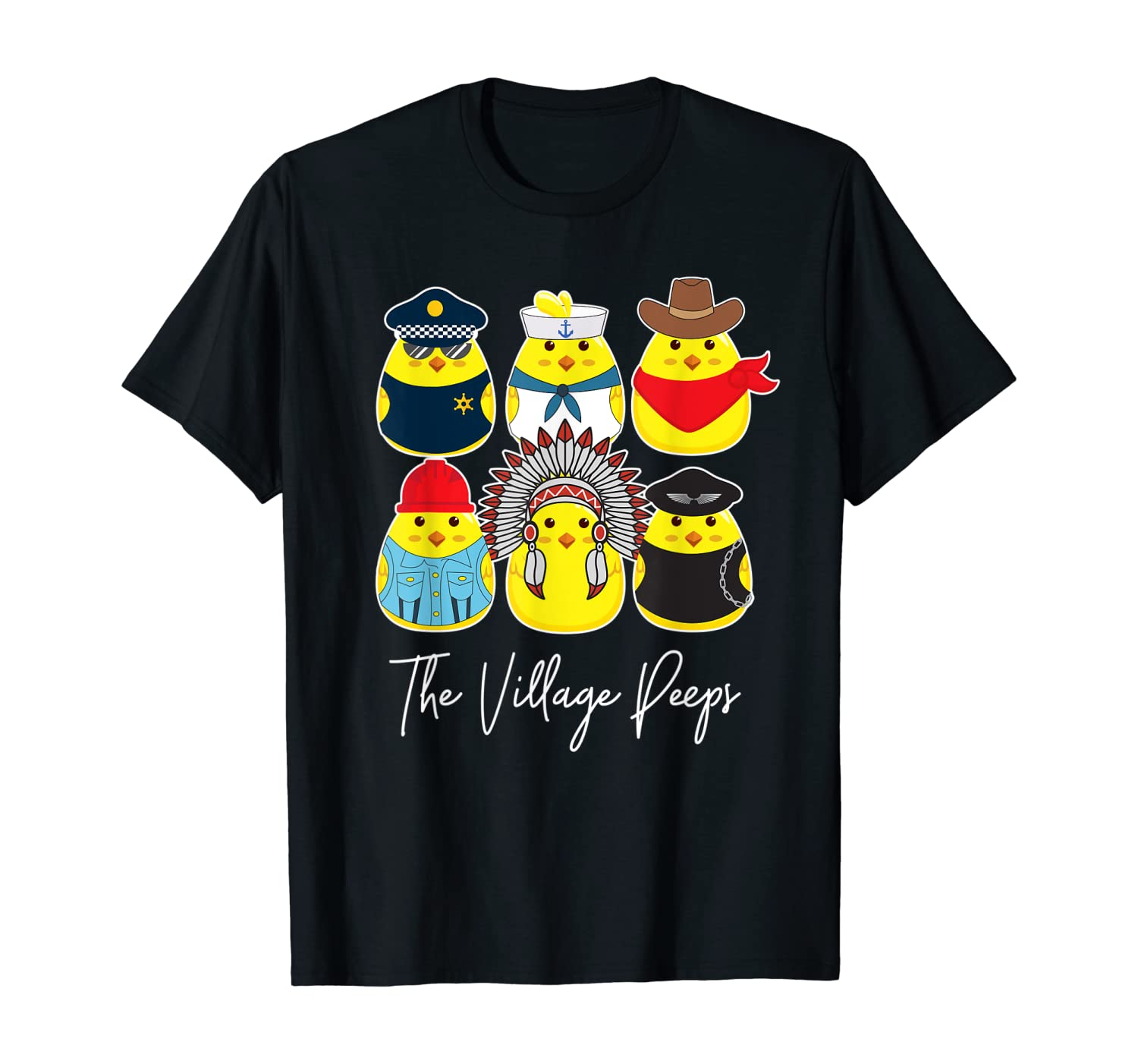 Funny Easter Shirt Village Peeps Cute Chick Tshirt Bunny