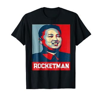 Amazon Com Rocket Man Kim Jong Un T Shirt Funny North Korea Shirt Clothing