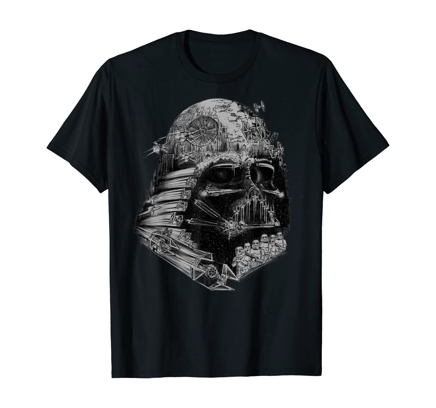 Star Wars Darth Vader Build The Empire Graphic T-Shirt T-Shirt