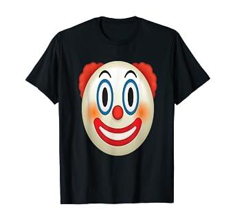 Amazon Com Emoji Circus Clown Birthday Red Nose Face Tee Emoticon