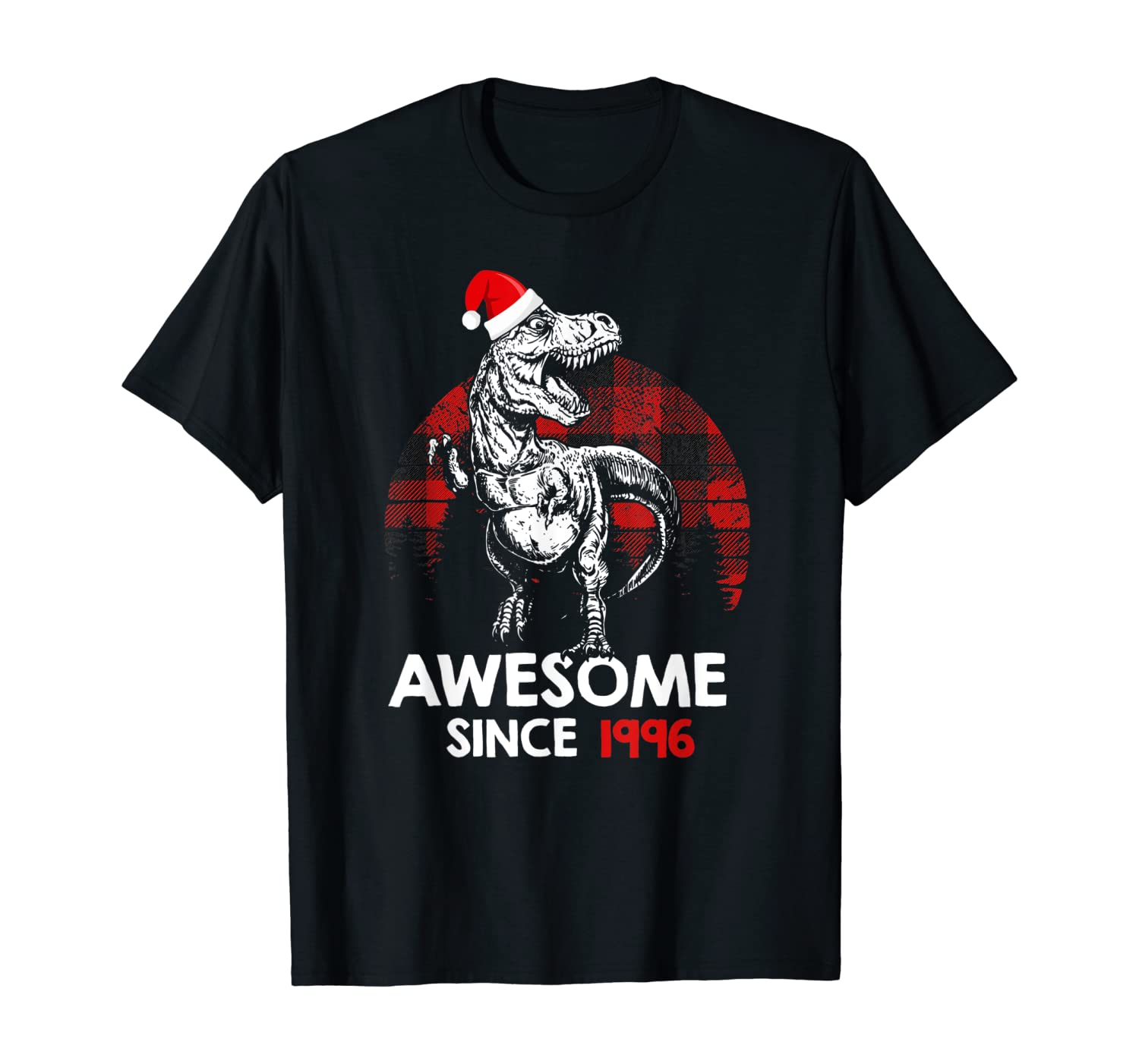 Awesome Since 1996 24th Birthday Red Plaid Christmas Gift T-Shirt