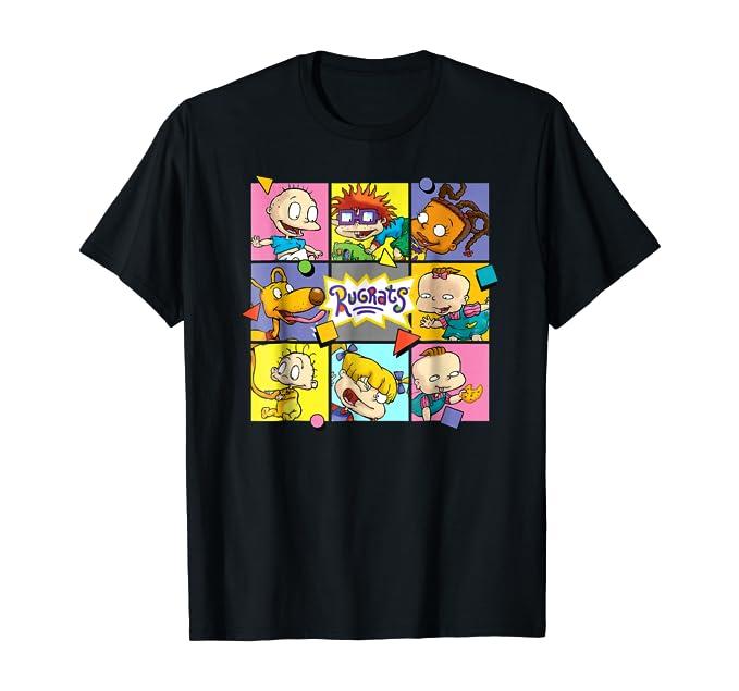 Rugrats T-Shirt - Black Box Pattern