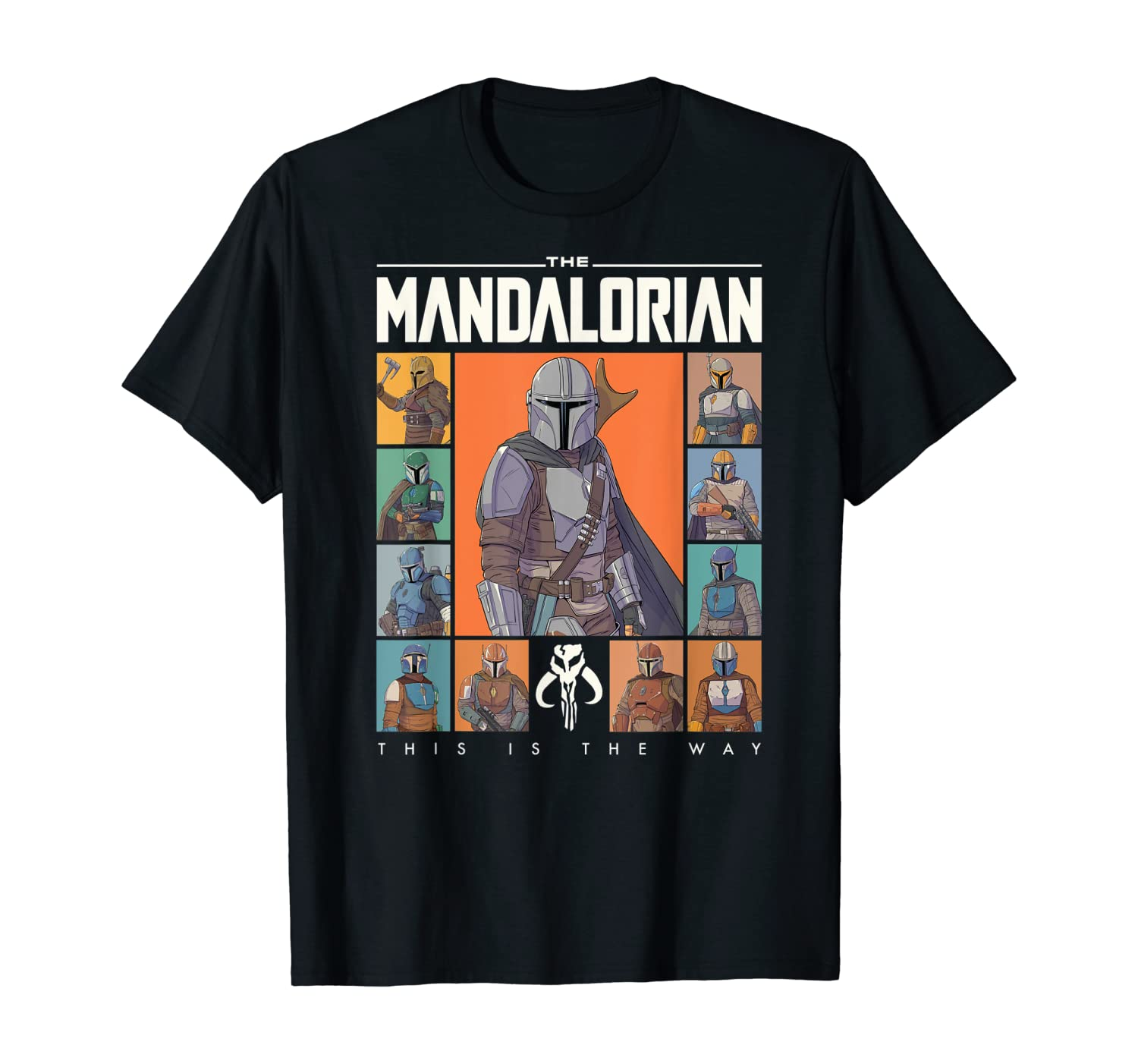 Star Wars The Mandalorian Character Grid This Is The Way T-Shirt