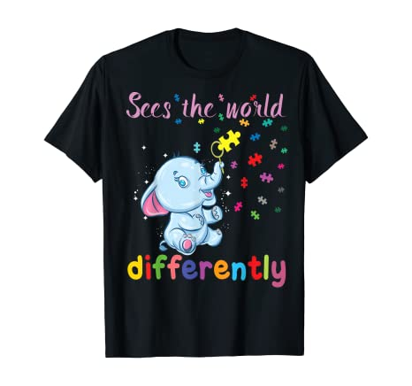 Sees the World Differently – – Autism Awareness T-Shirt