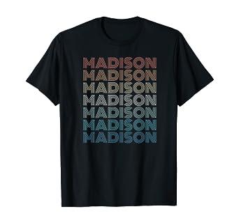 Amazon.com: Madison, WI - Wisconsin Vintage T-shirt: Clothing