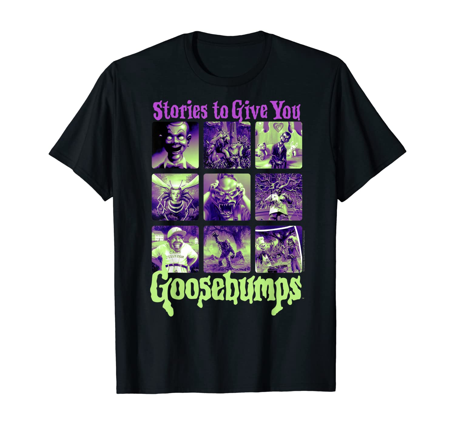 Goosebumps Stories To Give You Goosebumps Panel Poster T-Shirt